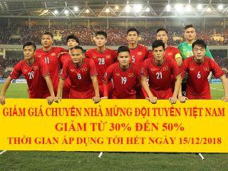 Khuyến mại chuyển nhà chúc mừng đội tuyển Việt Nam