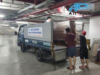 Cho thuê xe tải cắt nóc chui hầm cao 1m9 chuyển đồ chung cư