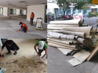 Dịch vụ lột thảm tẩy keo tại Hà Nội